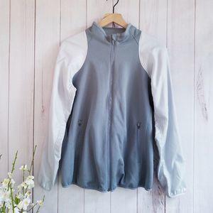 Nike Therma-Fit Zip Up Gray Jacket Size Medium